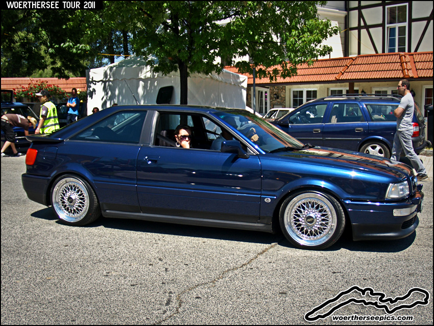 Blue Audi Coupe on BBS wheels | Flickr - Photo Sharing!