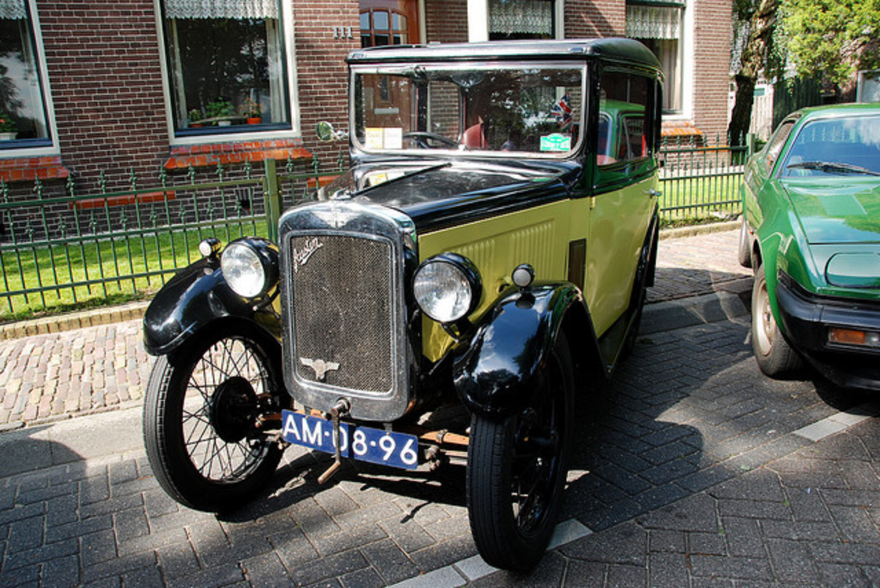 Oldtimer day at Ruinerwold: 1930 Austin Seven Box Saloon Type RL ...