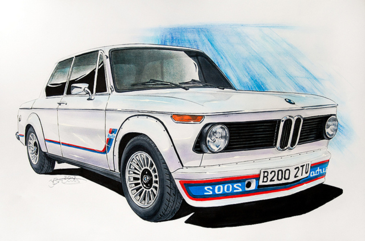 BMW 2002 Turbo Drawing | Flickr - Photo Sharing!