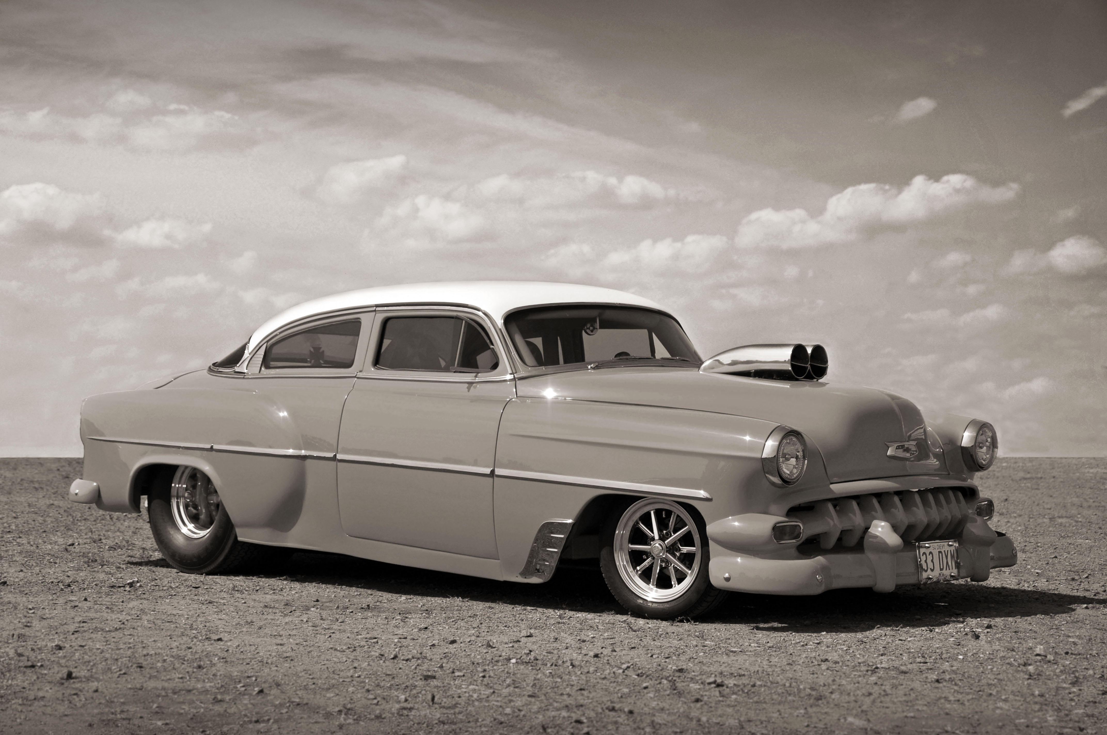 Paul Stevens' Pro Street 1954 Chevrolet 210 Sedan - 2010 NSRA ...