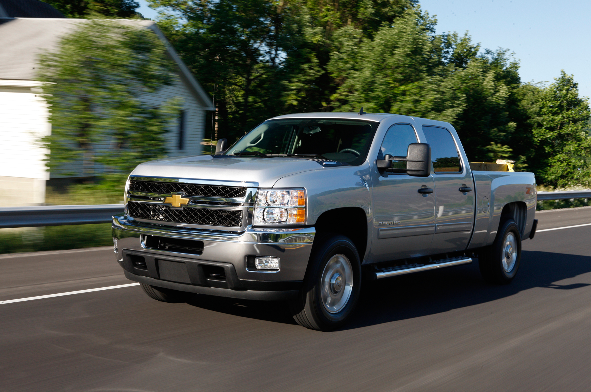 2011 Chevrolet Silverado 3500 HD Front Three Quarter In Motion Photo 9