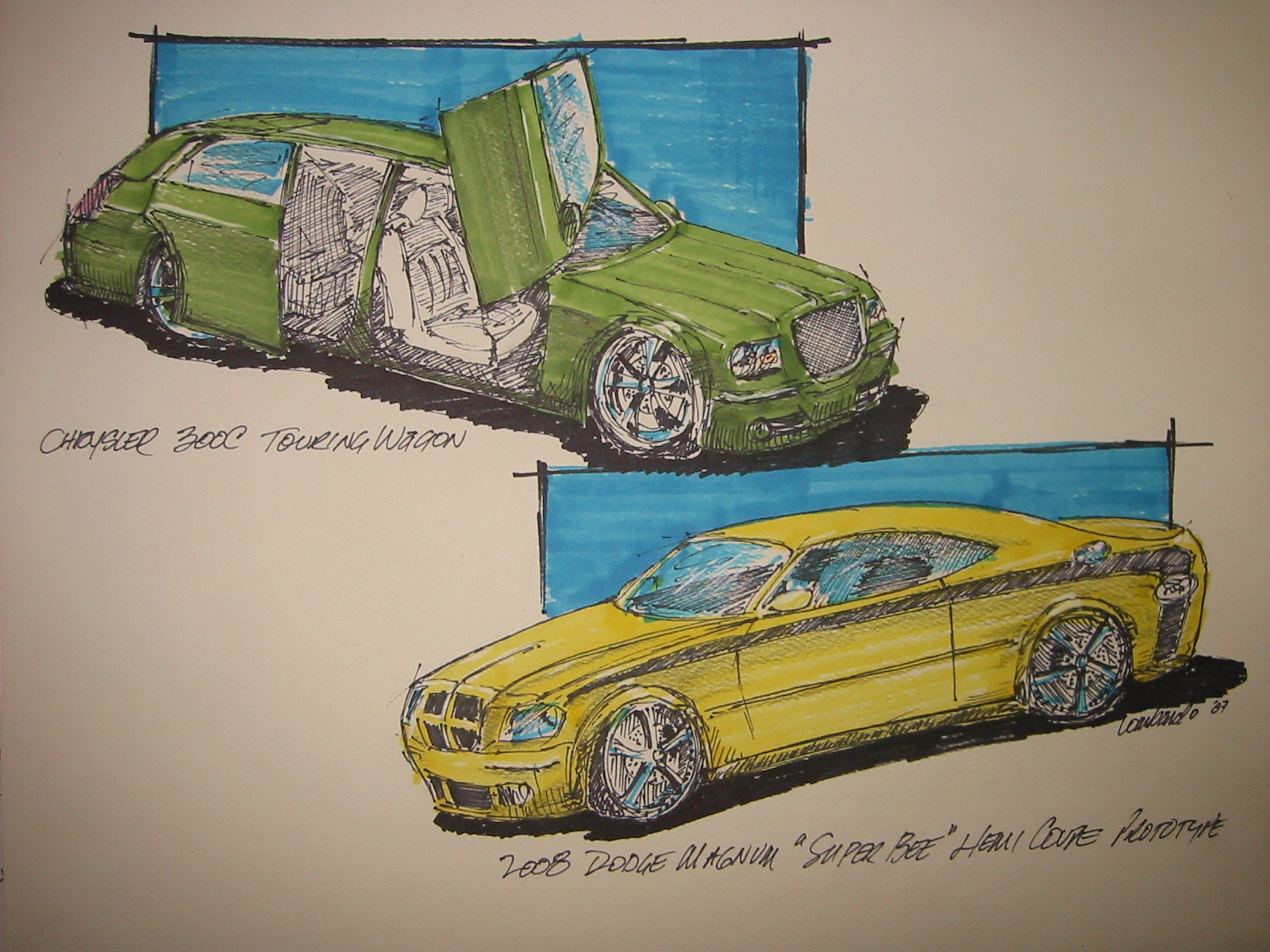 Dodge Charger 'Super Bee' HEMI Coupe (retro custom) & Chrysler ...