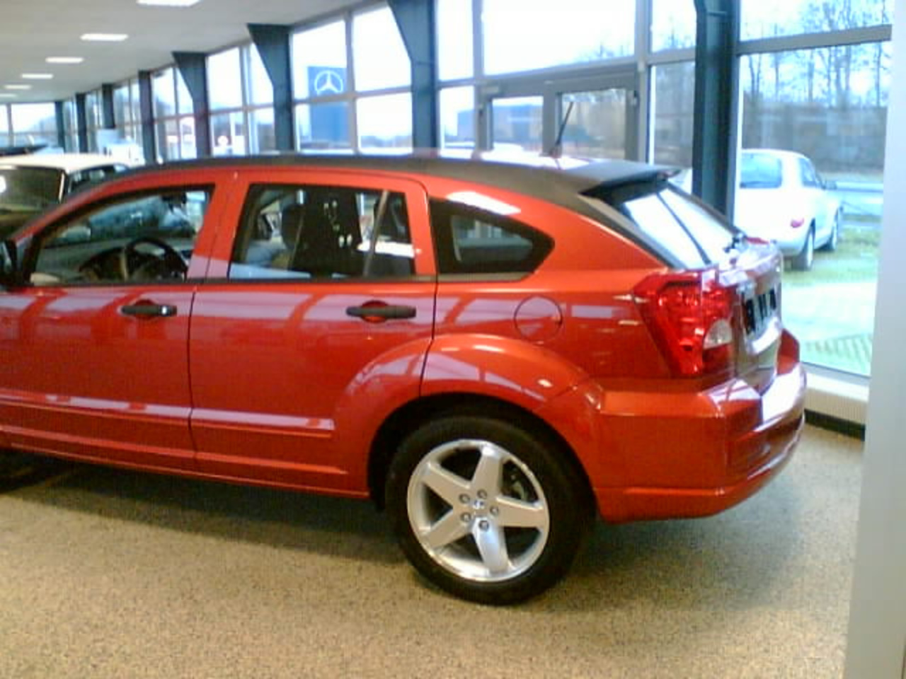 Dodge Caliber SXT CRD Sunburst Orange Min bil VBag | Flickr ...
