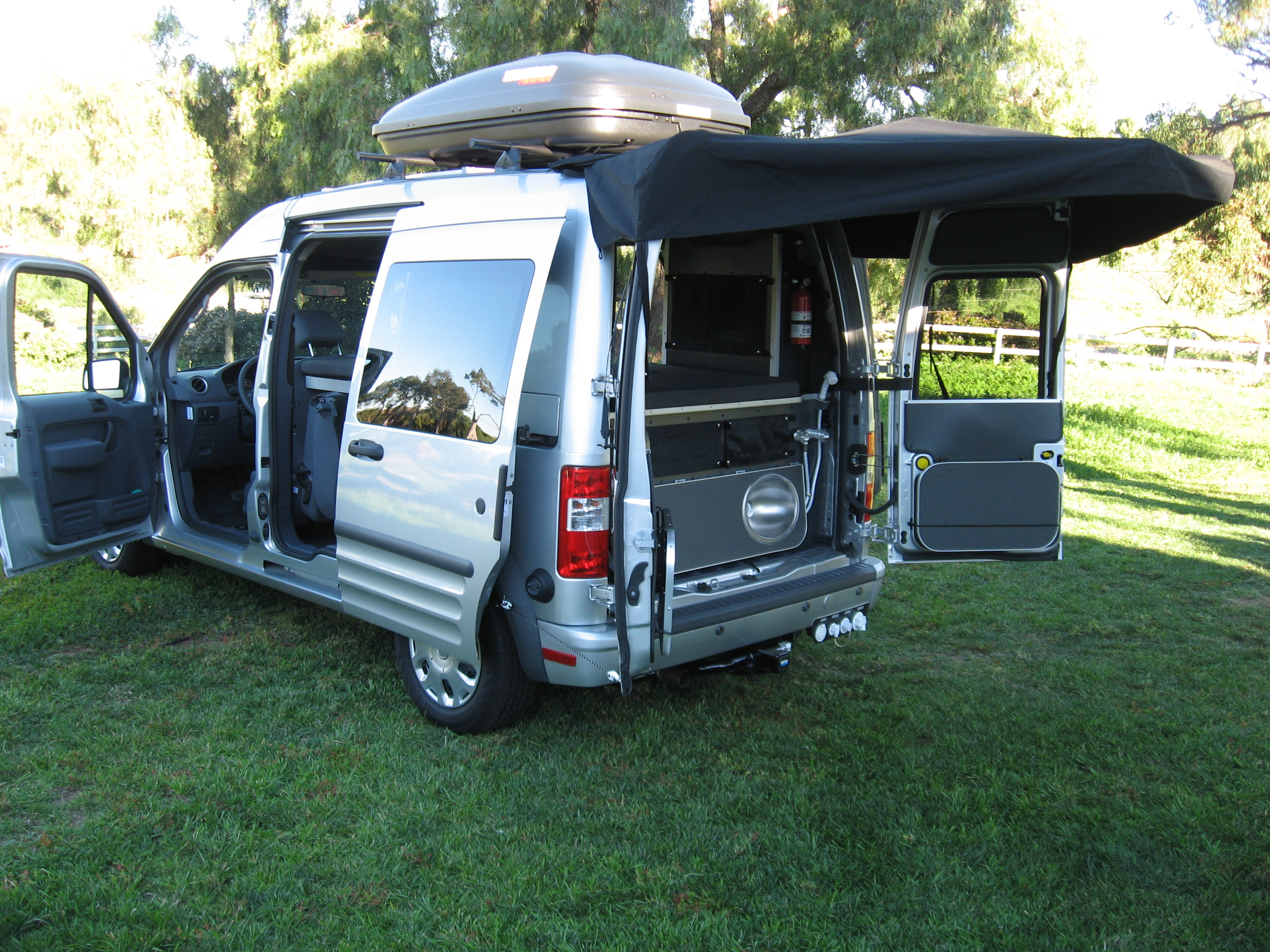Topworldauto Photos Of Ford Connect Photo Galleries 2015 Transit Van Camper Conversion 2010 With Removable Rear Awning