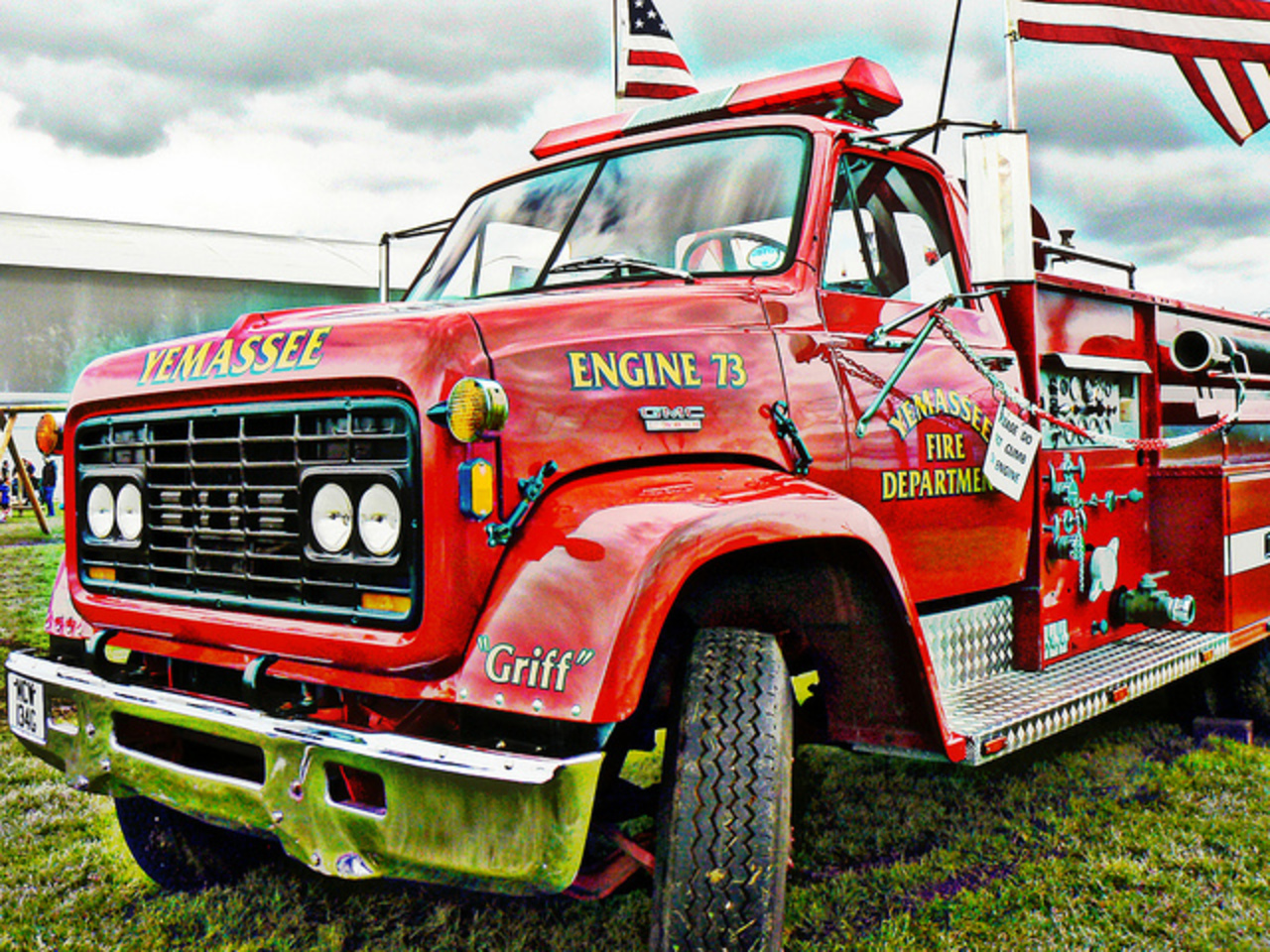 "GMC Fire Truck ""Griff"" Engine 73 Yemassee Fire Department 