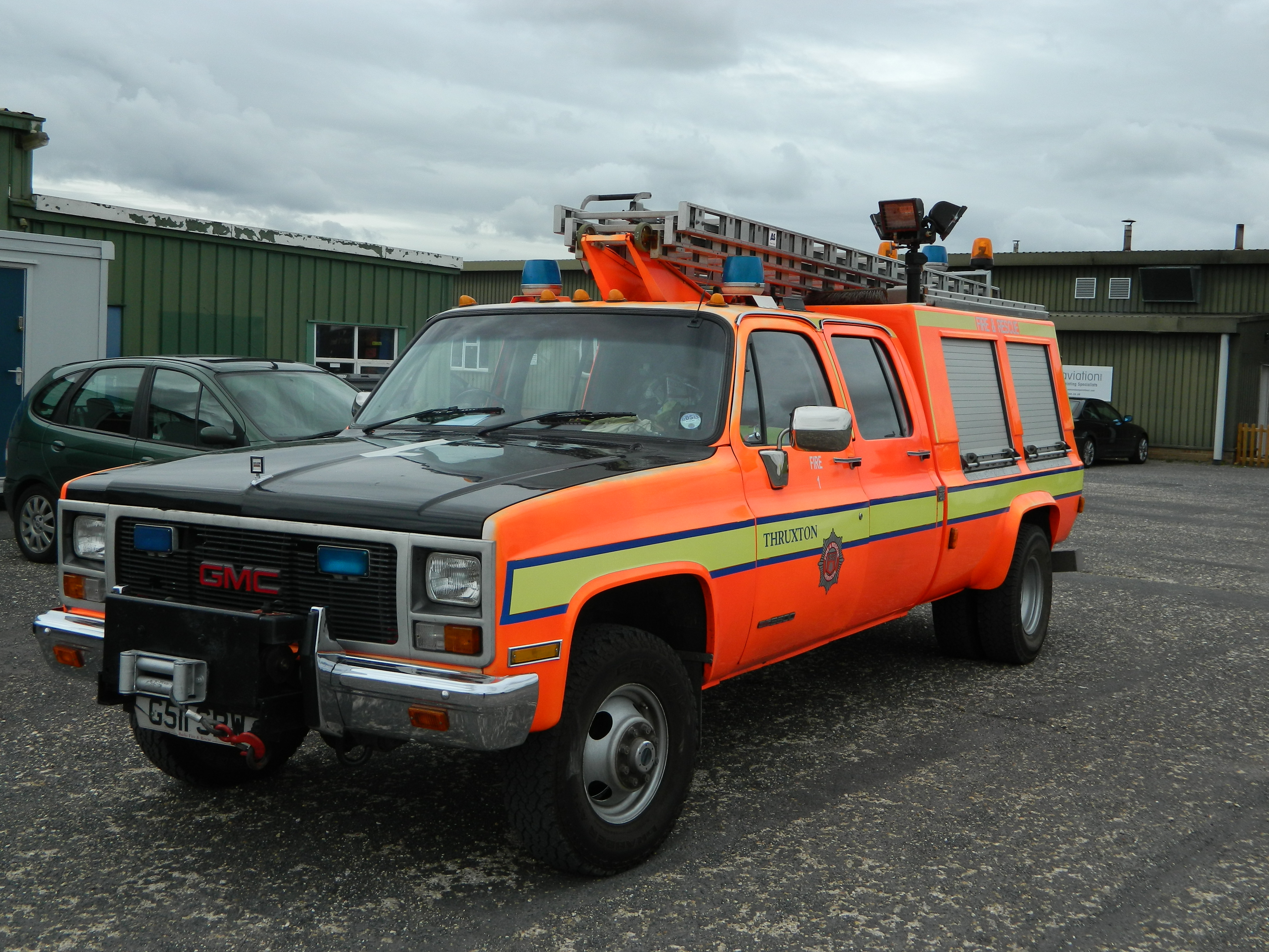 GMC Fire Truck Thruxton Airfield | Flickr - Photo Sharing!