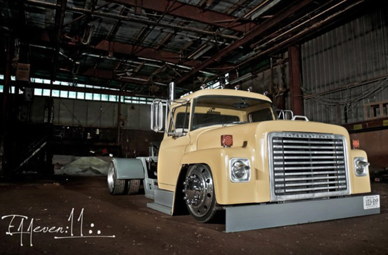 1977 International Loadstar scrapes the pavement on its way to ...