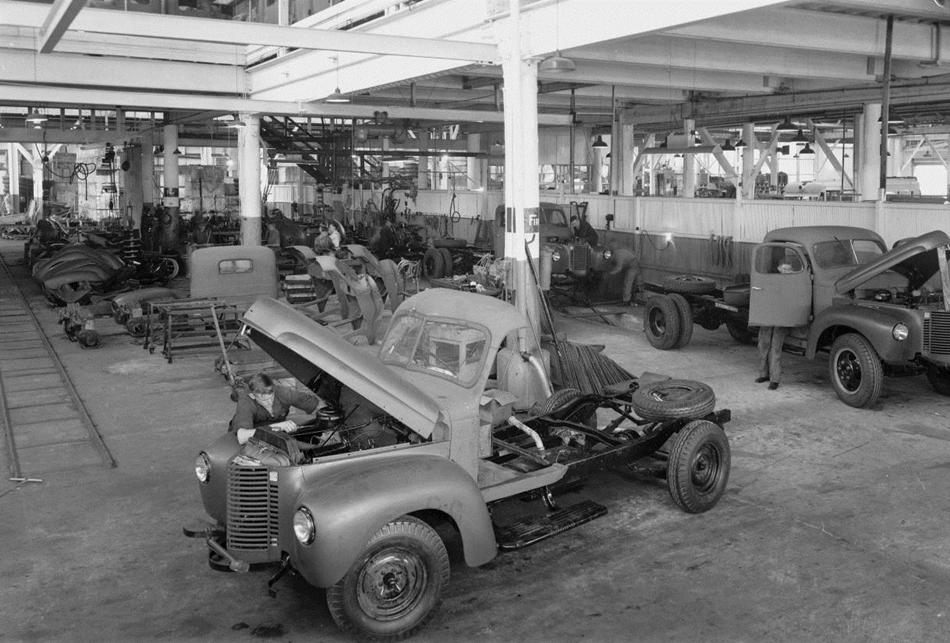 Negative - International Harvester, Assembly Line, K Line Trucks ...