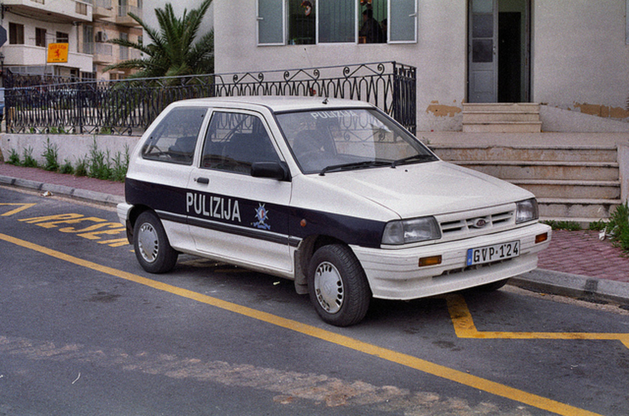 MALTA POLICE Kia Pride GVP124 | Flickr - Photo Sharing!
