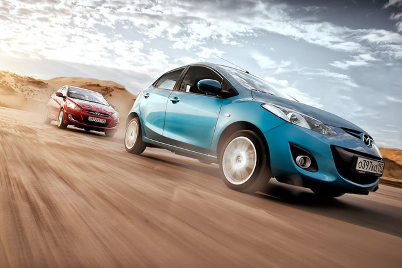 Mazda 2 and Hyundai Rigshots | Flickr - Photo Sharing!