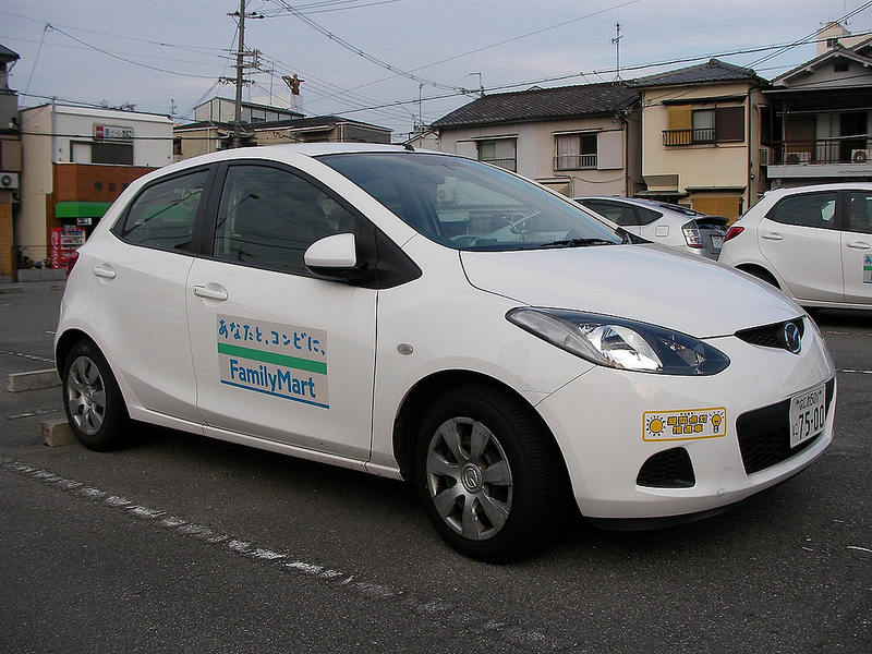 Mazda Demio Mazda2 -- Japanese Car -- FamilyMart | Flickr - Photo ...