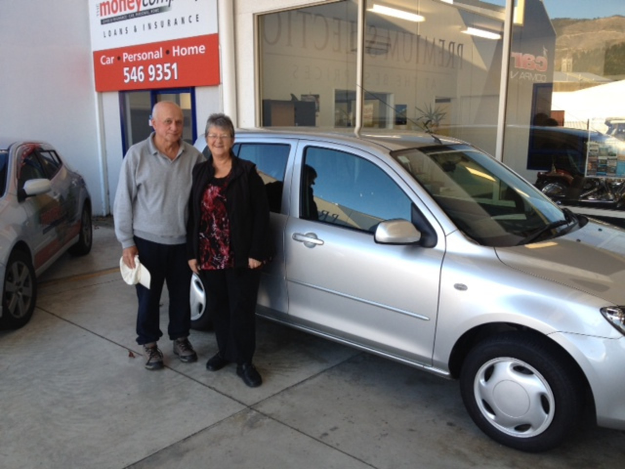 Pat & Judy Stanger taking delivery of their Mazda Demio purchased ...