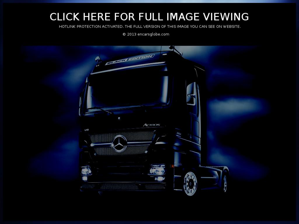 Mercedes-Benz Actros 1861 Black Edition: Photo gallery, complete ...