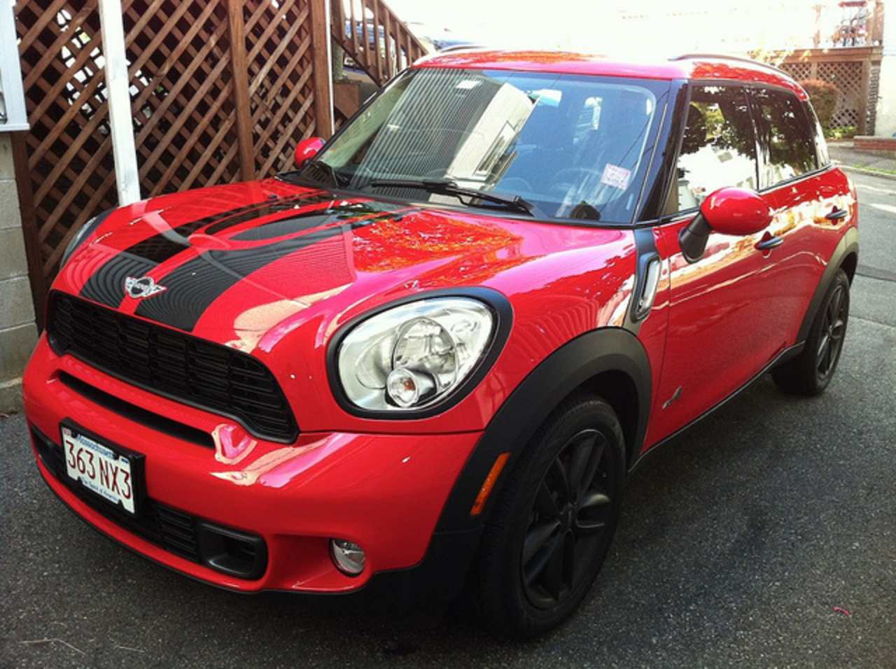Red MINI Cooper S Countryman All4 - Completely Black Out | Flickr ...