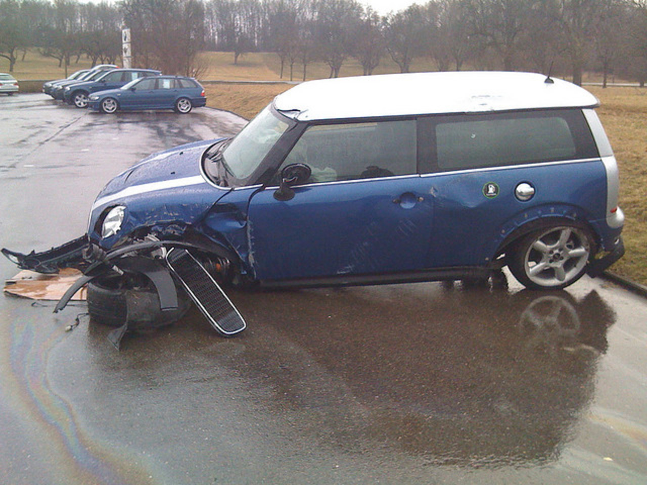 Mini Cooper S Clubman crashed | Flickr - Photo Sharing!