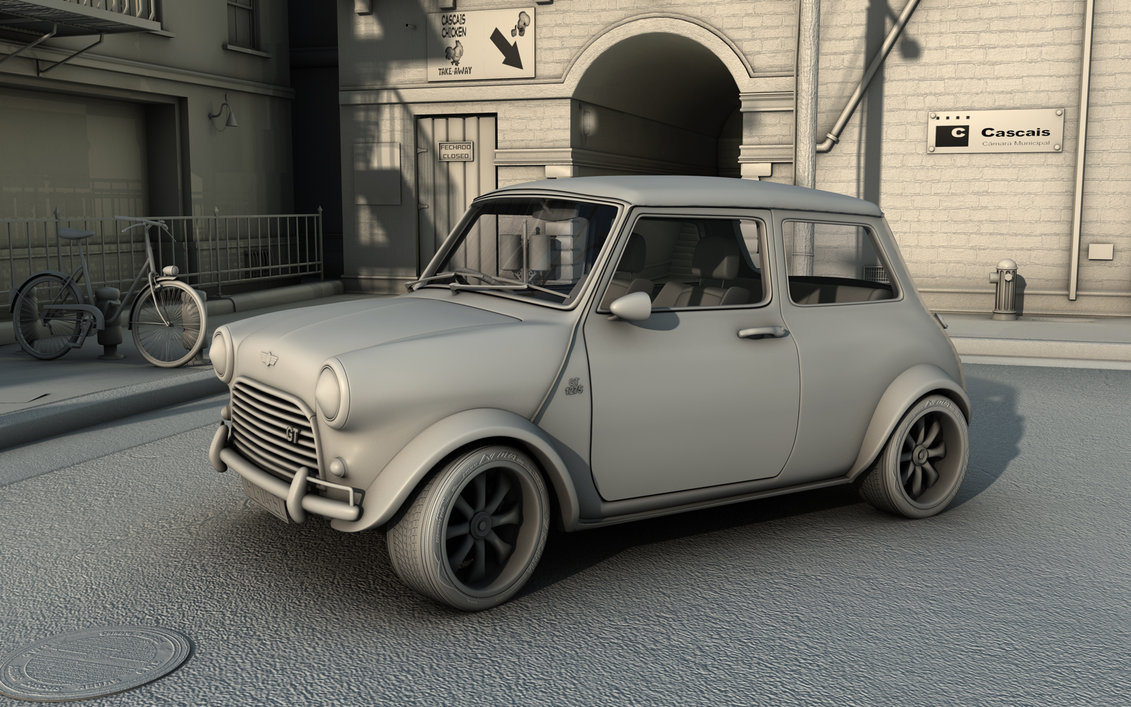 Mini 1275 GT in cascais WIP1 by ~RJamp on deviantART