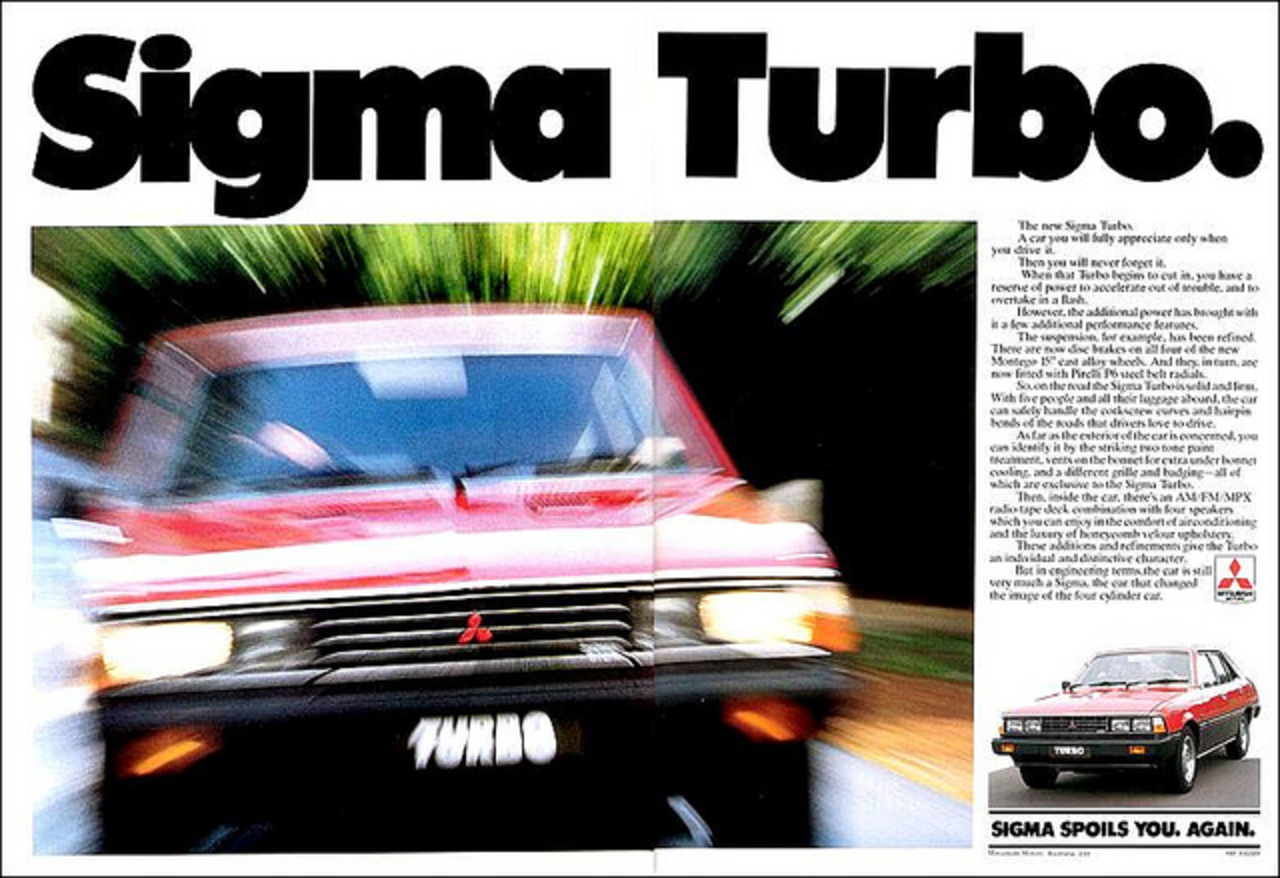 1981 Mitsubishi Sigma Turbo Ad - Australia | Flickr - Photo Sharing!