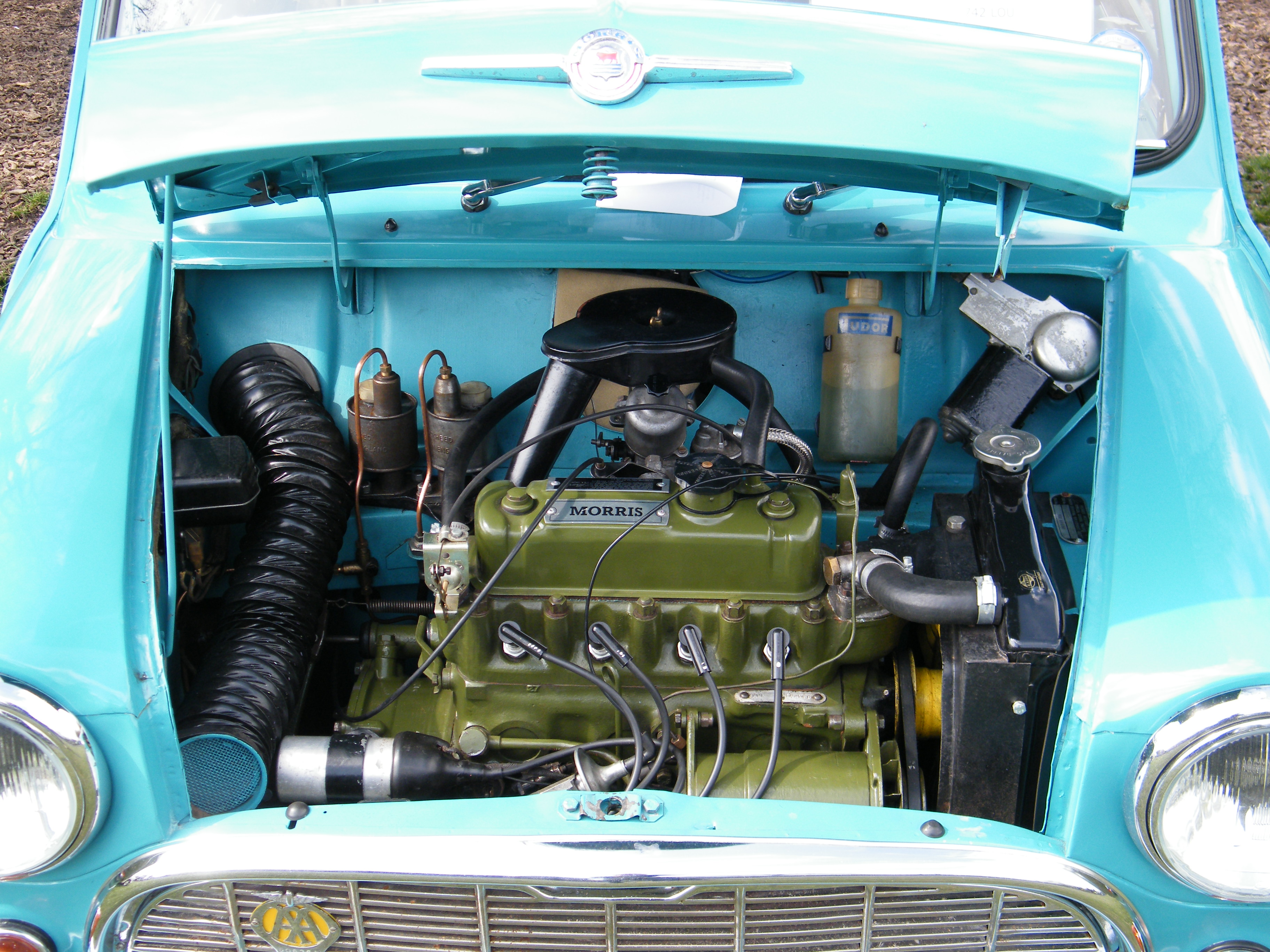 1964 Morris Mini's engine bay | Flickr - Photo Sharing!