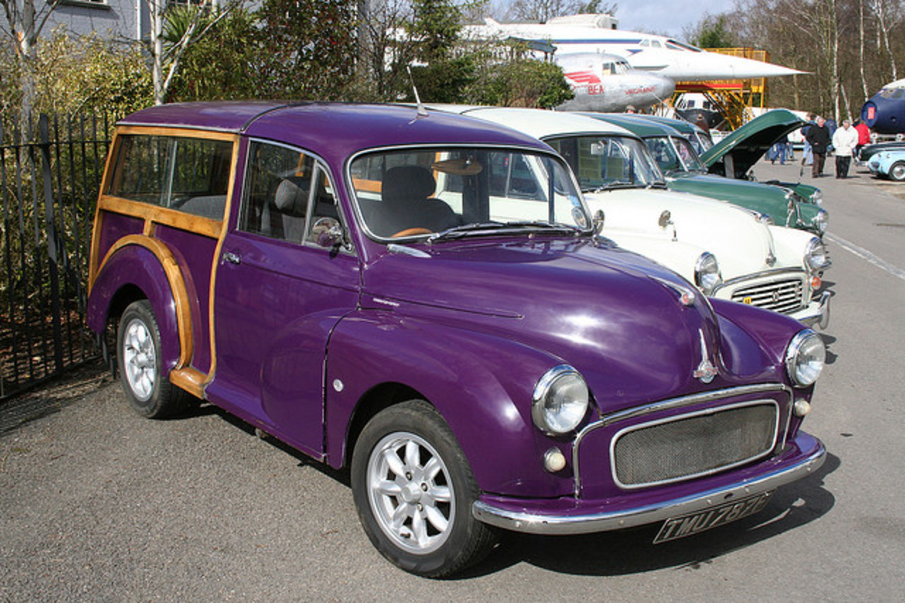 Custom Morris Minor Traveller at Brooklands rally,Surrey,UK on 8/3 ...