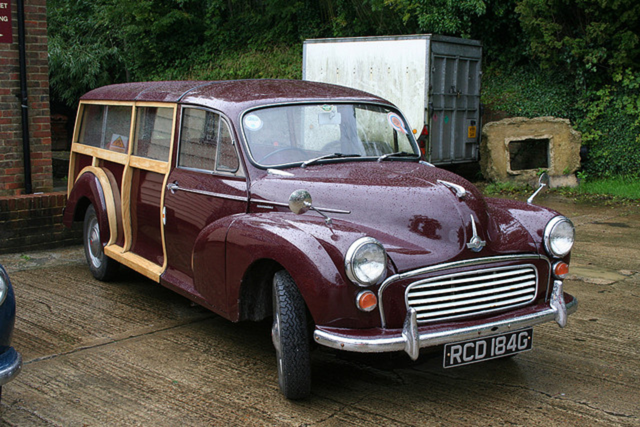 Stretched Morris Minor Traveller RCD 184G at Kent Branches Hop ...