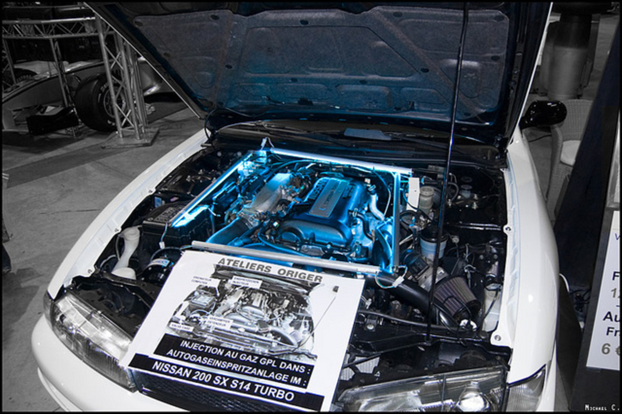 NISSAN 200 SX S14 Turbo engine | Flickr - Photo Sharing!