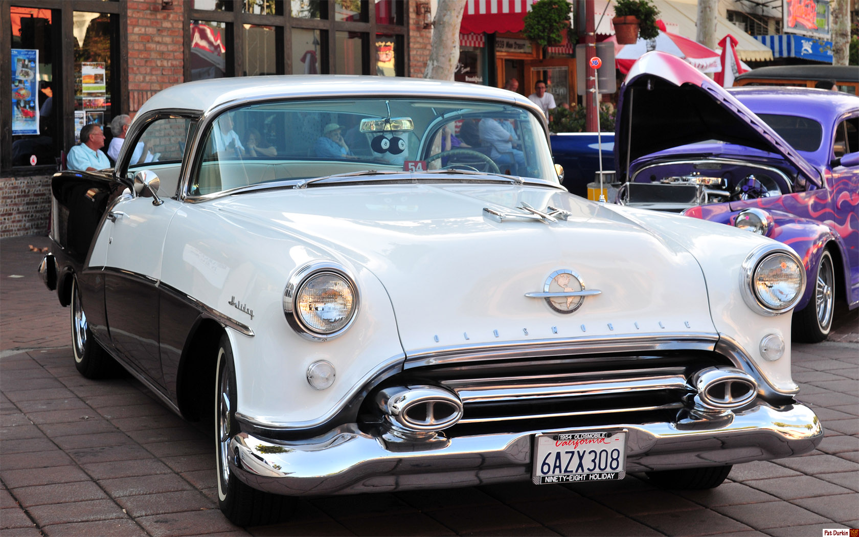 1954 Oldsmobile 98 Holiday HT coupe - white over black - front ...