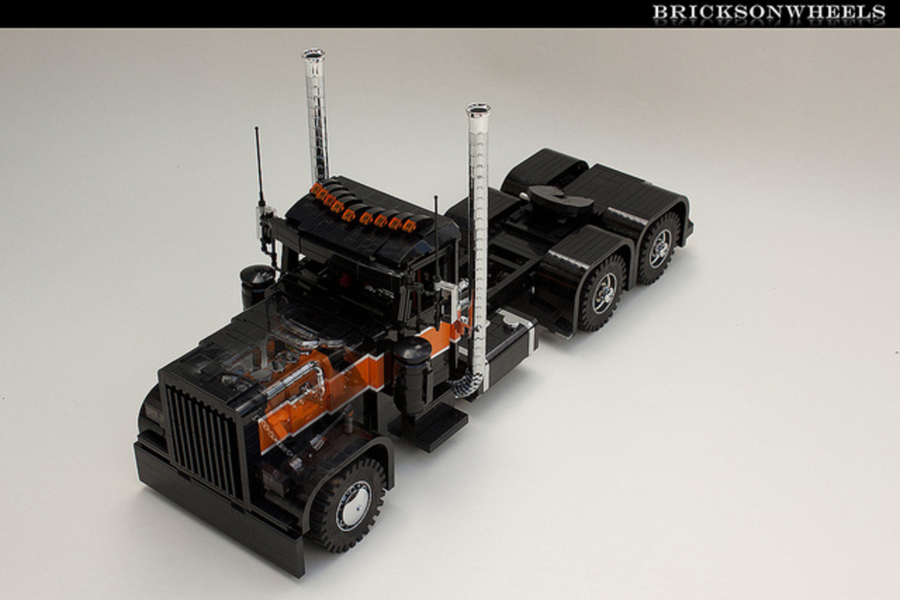 Lego Peterbilt 379 'blackened' (see through image) | Flickr ...