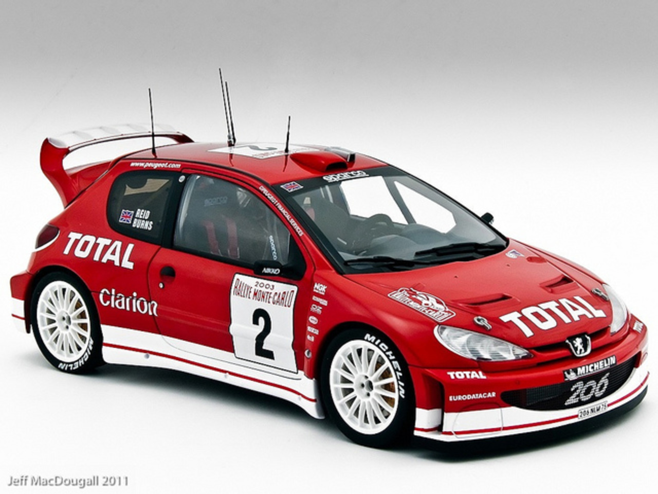 Peugeot 206 WRC #2 Monte Carlo Burns 2003 | Flickr - Photo Sharing!