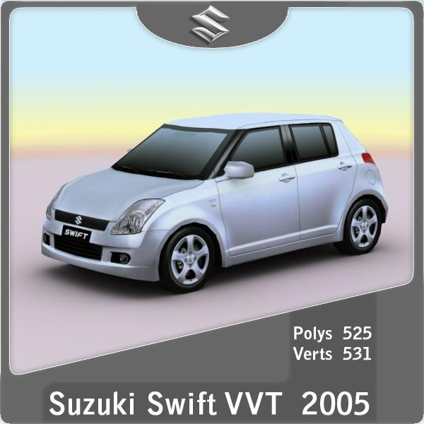 2005-2010 Suzuki Swift VVT - 3D Models and 3D Graphics in ...