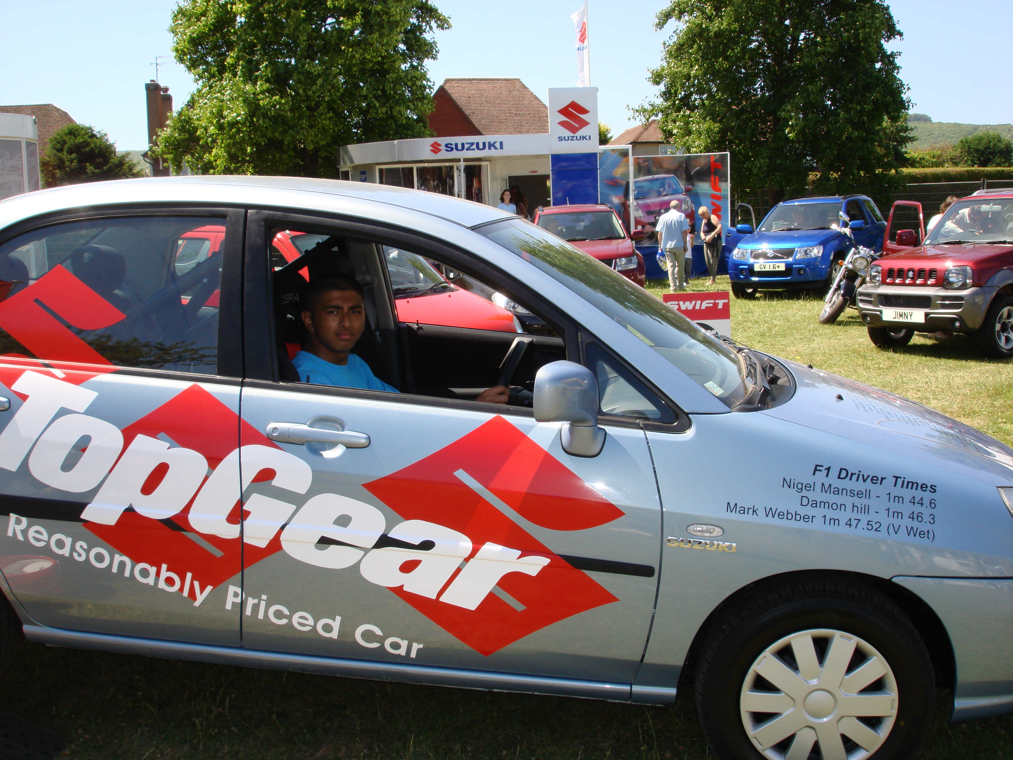 Me sitting in the old Top Gear Reasonably Priced Car (Suzuki Liana ...