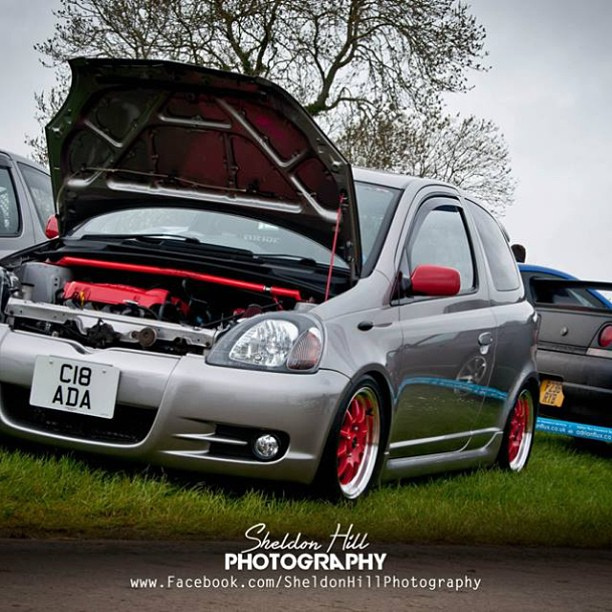 Toyota #yaris #Sport #styling #Dropped #static #modified #japfest ...