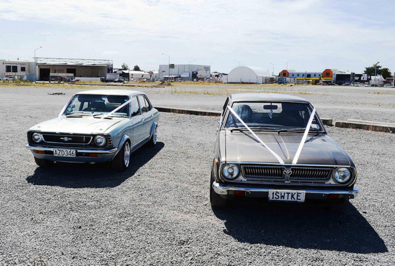 Two very cool Toyota Corolla Wedding cars | Flickr - Photo Sharing!