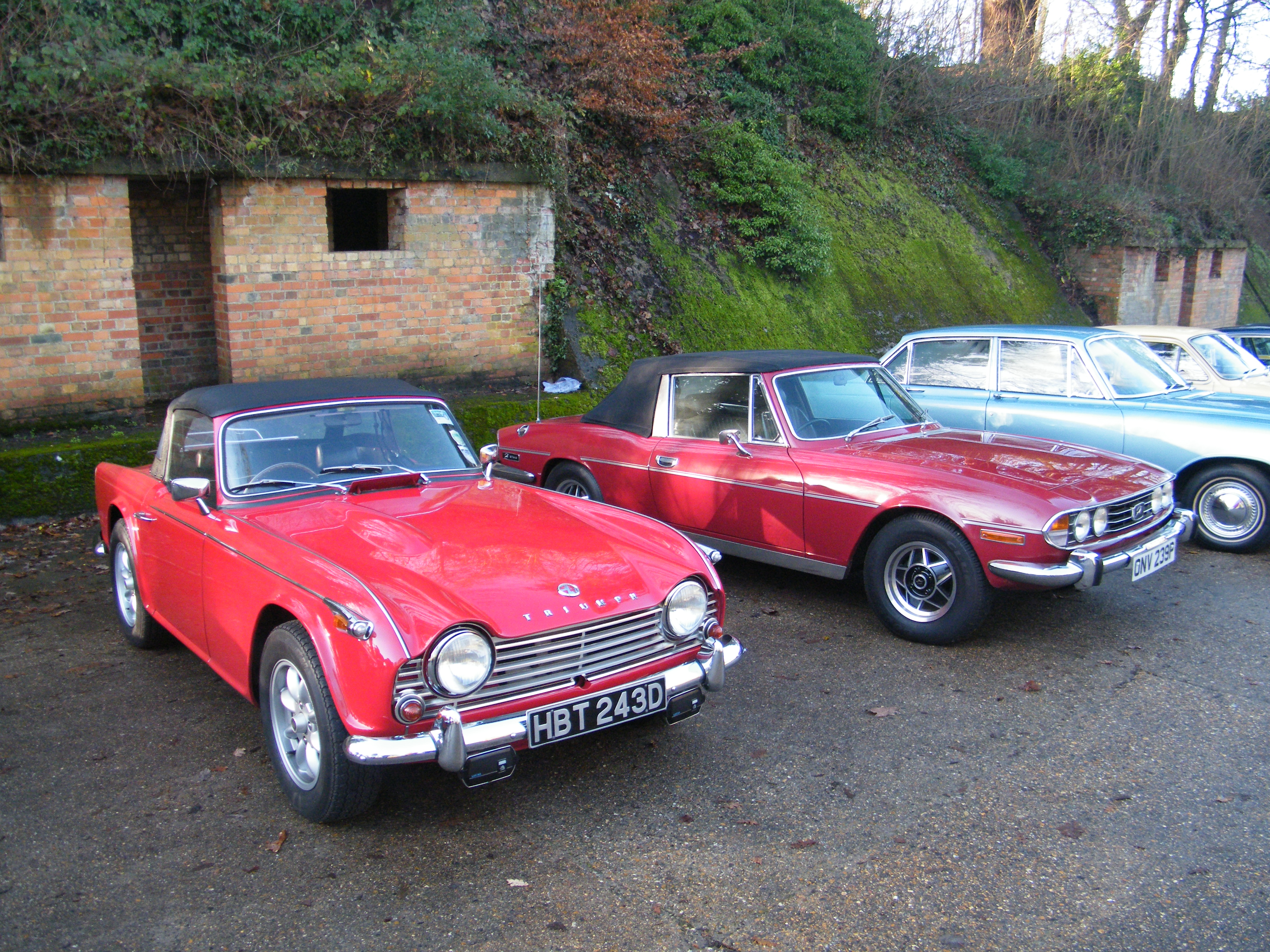 Brooklands New Year's Day 2013 - 1966 Triumph TR4A and 1975 ...