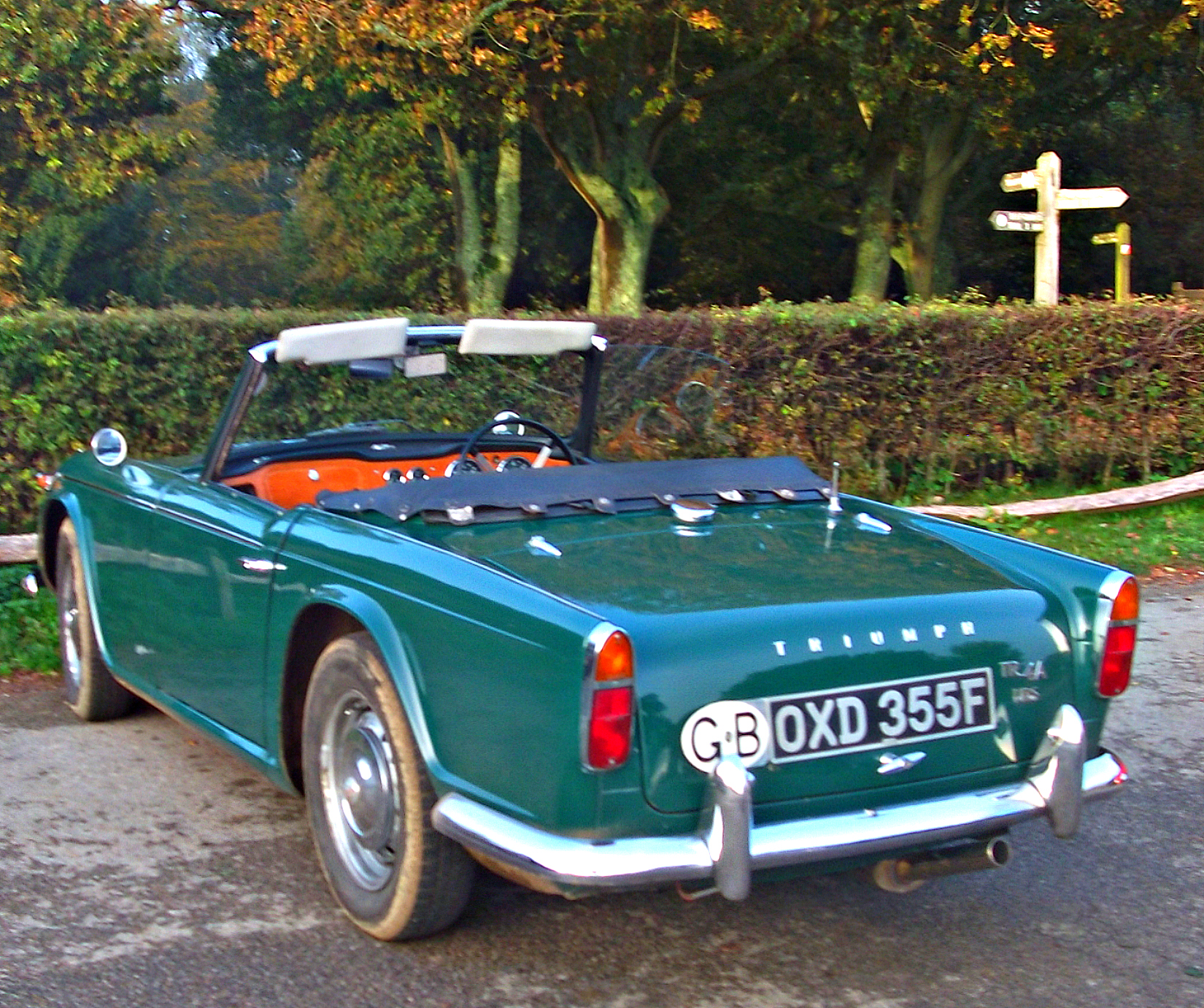 Three - Quarter rear view - 1967 Triumph TR4A IRS | Flickr - Photo ...
