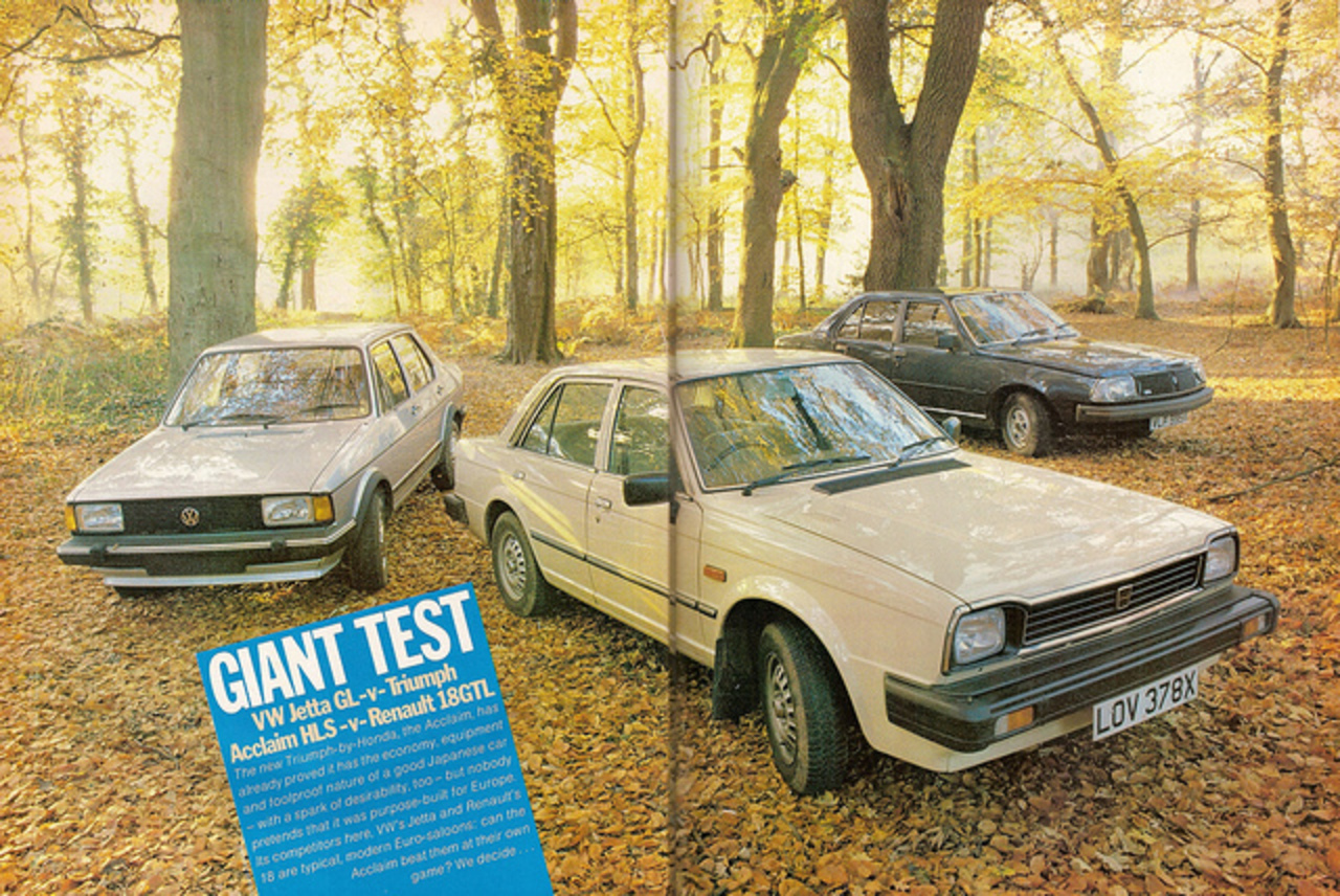 Renault 18 GTL - Triumph Acclaim HLS & Volkswagen Jetta GL Group ...