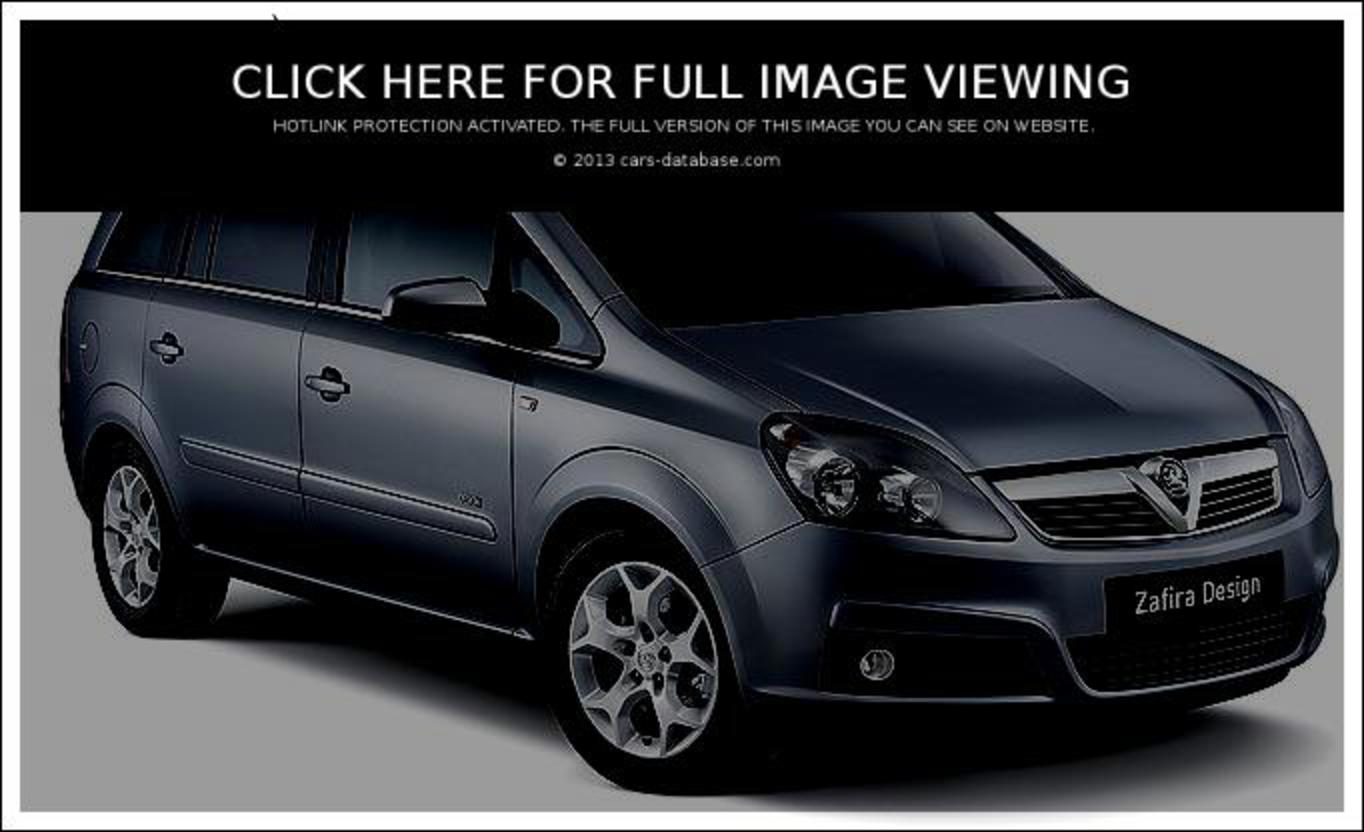 Vauxhall Zafira: Information about model, images gallery and ...