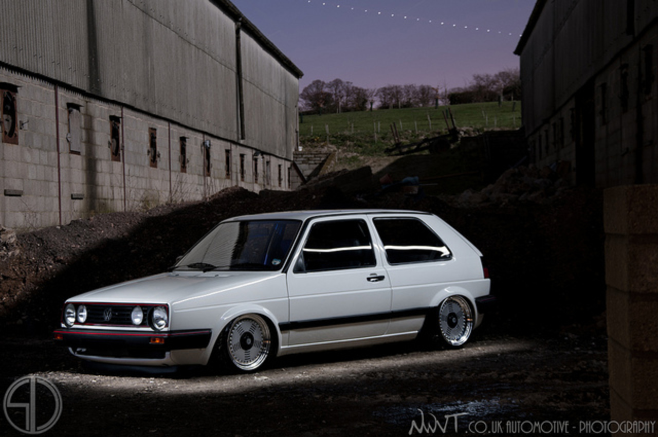 Tims White Volkswagen Golf GTi Mk2 On BMW M1 Wheels | Flickr ...