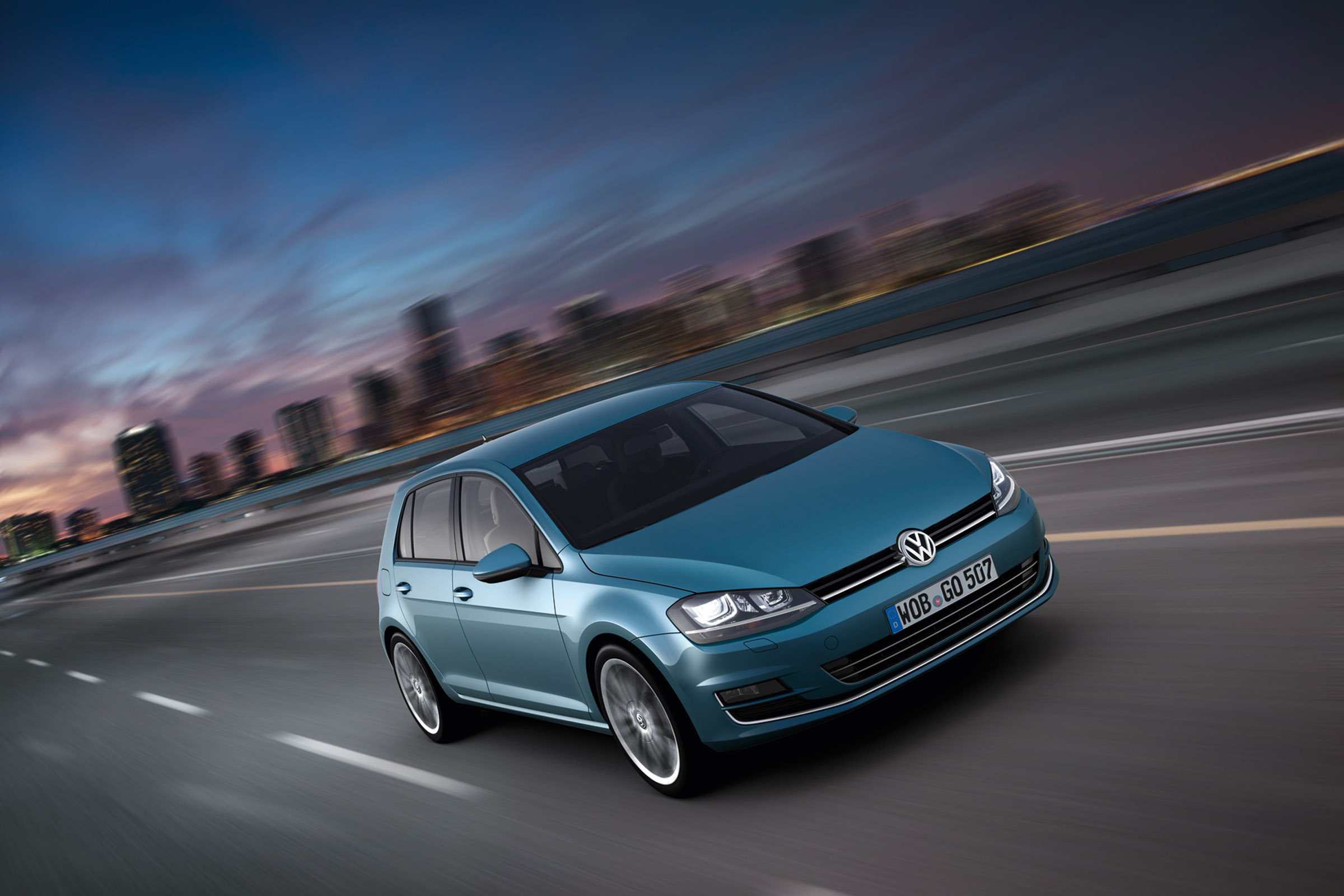 2013 Pacific Blue MK7 Volkswagen Golf Highline