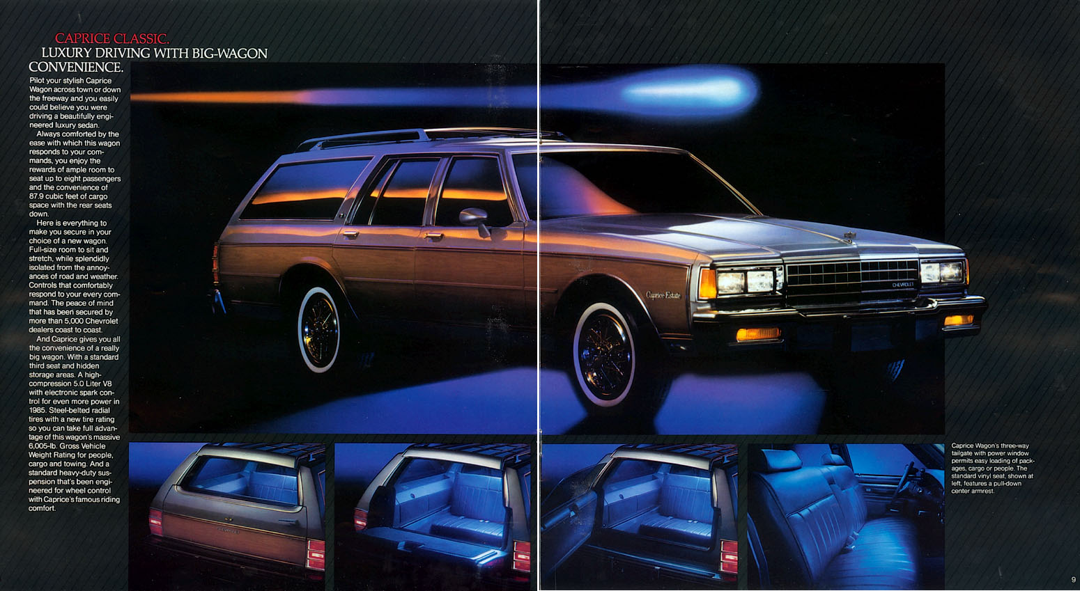 1985 Caprice Estate- 1988 (79-91) Ford LTD Country Squire wagon.
