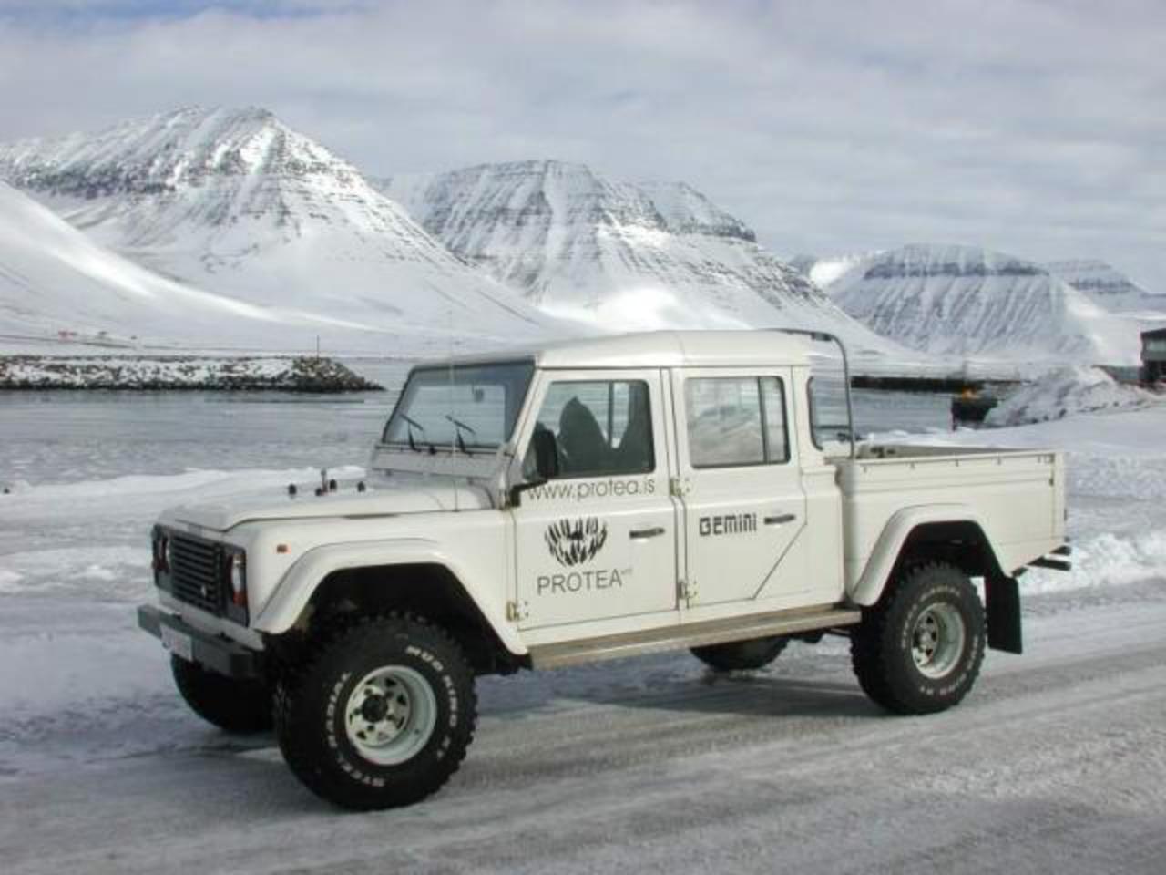 Land Rover Defender Image B on Dodge Ram 6500