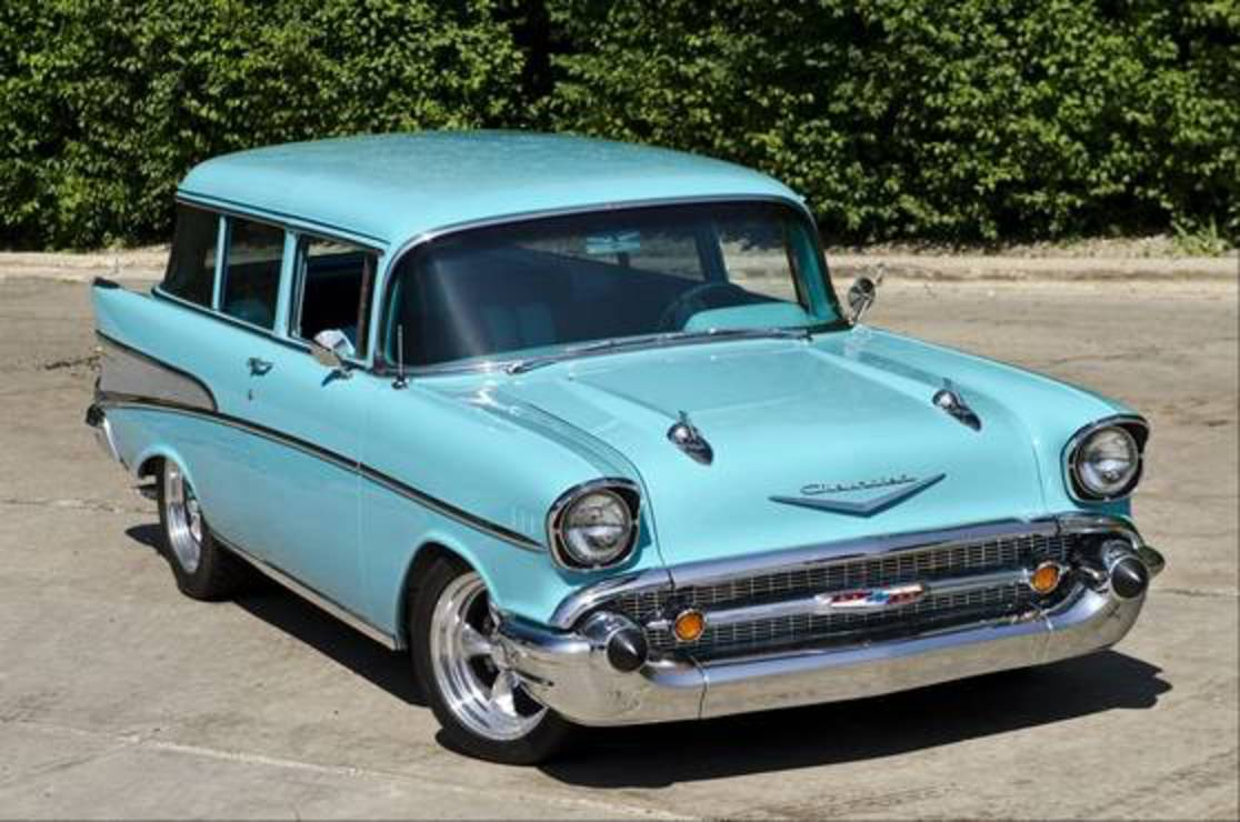 Skip Gallagher of Palatine customized this 1957 Chevrolet 210 wagon just to