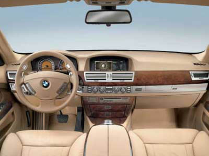 BMW 750i Side; BMW 750i Inside