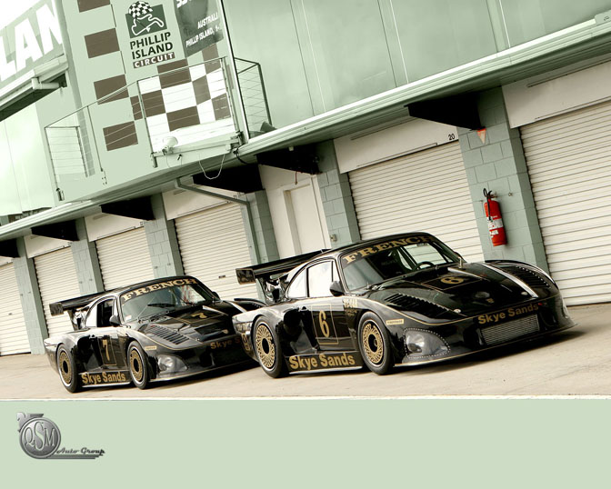 They are a pair of Porsche 935's. Does anybody have more info on the amazing
