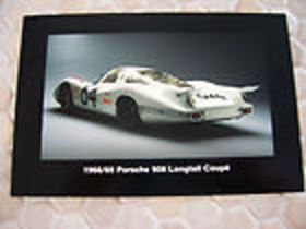 Porsche 908 longtail Lemans CAR COVER EMAIL SB MDL YR