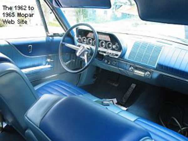1962 Dodge Dart 440 Station Wagon interior