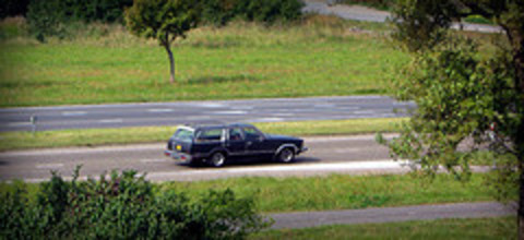 1978 Chevrolet Malibu Classic Estate. On the N206 highway through Katwijk.