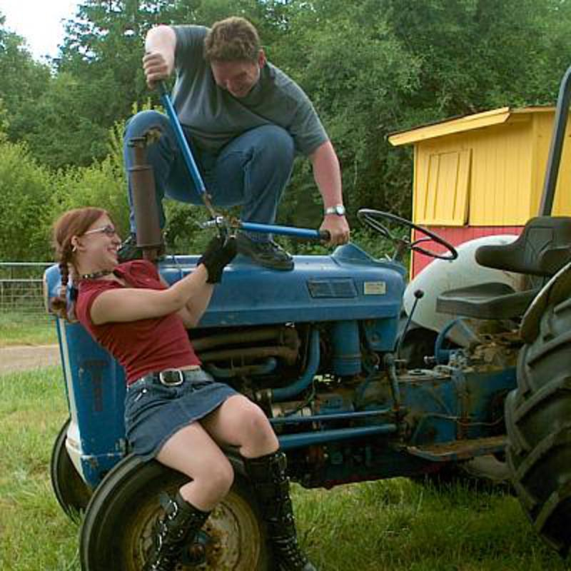 Ford 600 tractor with teenagers. Now I'm down to an annoying slow leak at