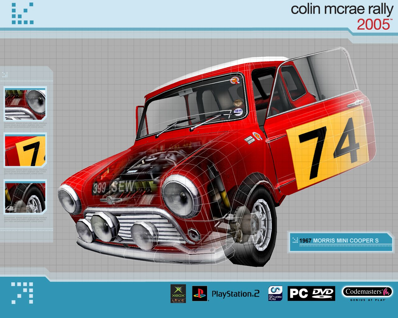 Morris Mini Cooper S - Colin McRae Rally 2005 | 1280x1024 Wallpaper