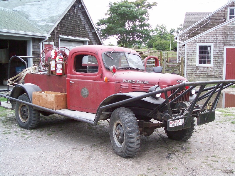 Falmouth Dodge Power Wagon brush truck from 1940s.