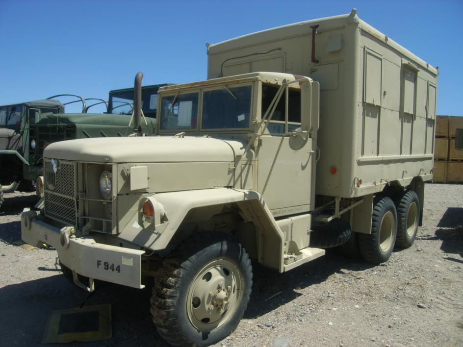 1972 AM General, M109A3, 6x6, 2 1/2 ton shop van truck, without ...